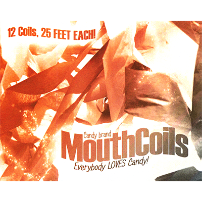 Mouth Coils 25 foot (Black/Orange) by Candy Brand - Trick