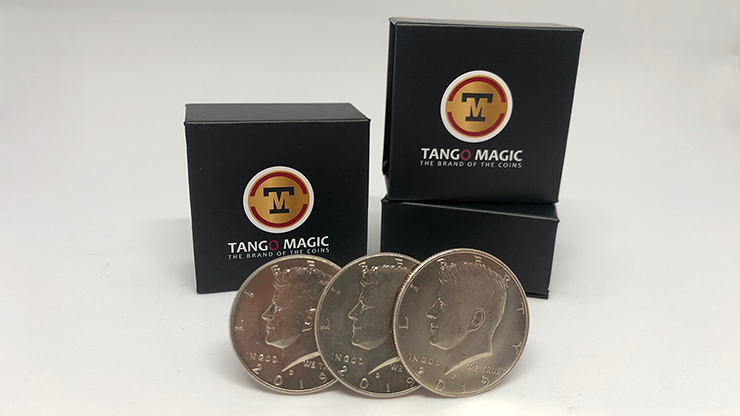 Three in One (Half Dollar) Set (D0173) by Tango - Trick