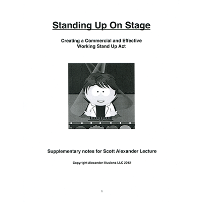 Standing Up On Stage(Creating a Commercial & Effective Stand Up Act) - Scott Alexander - Libro de Ma