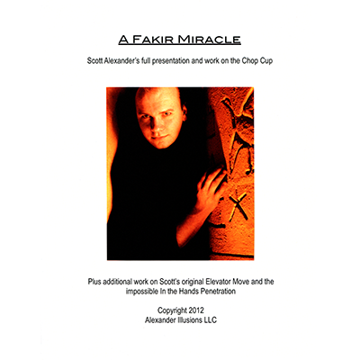 Chop Cup Routine A Fakir Miracle Lecture Notes - Scott Alexander - Libro de Magia