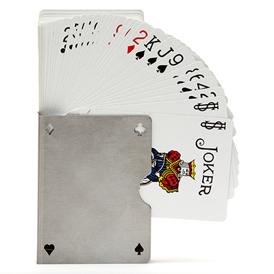 Card Guard Stainless (Perforated) by Bazar de Magic - Trick