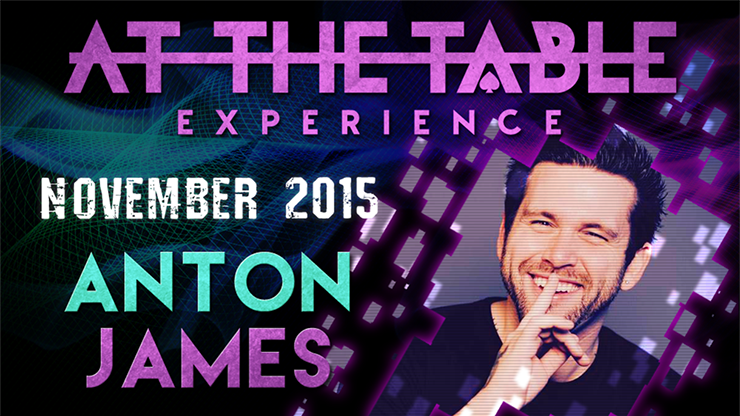 At the Table Live Lecture - Anton James November 4th