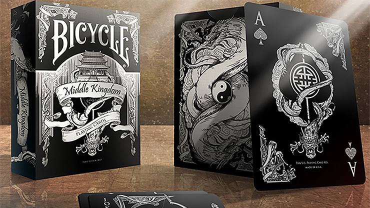 Cartas Bicycle Middle Kingdom (Black) US Playing Card Co