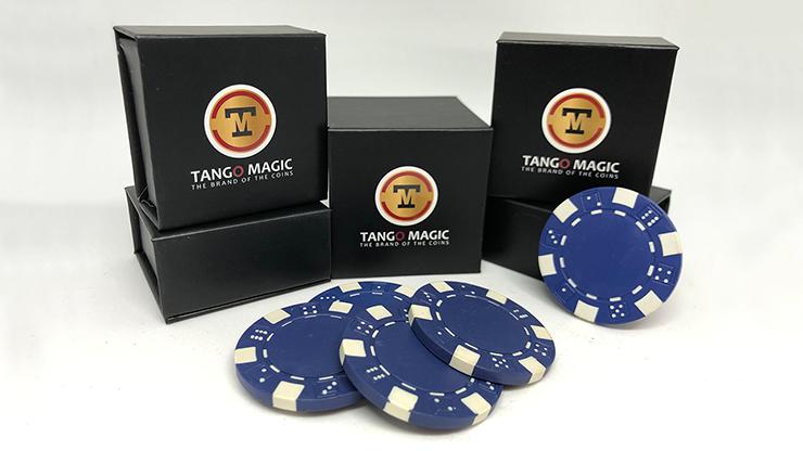 Expanded Shell Poker Chip Blue plus 4 Regular Chips (PK001B)