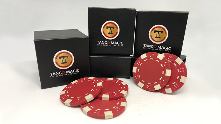 TUC Poker Chip Red plus 3 regular chips (PK002R) - Tango Magic