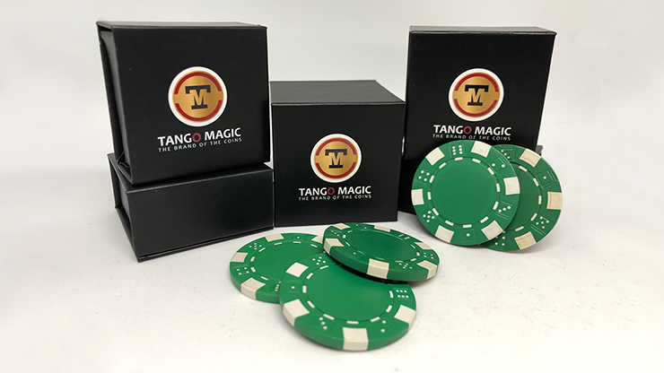 TUC Poker Chip Green plus 3 regular chips (PK002G) - Tango Magic