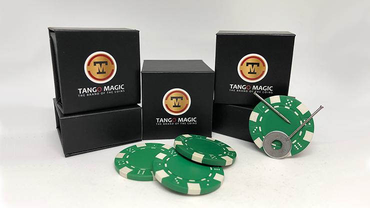 Magnetic Poker Chip Green plus 3 regular chips (PK003G)