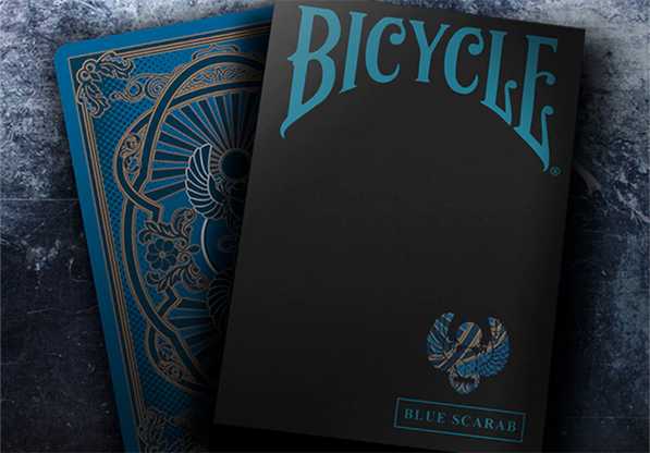 Cartas Bicycle Scarab (Azul) Playing Cards - Crooked Kings