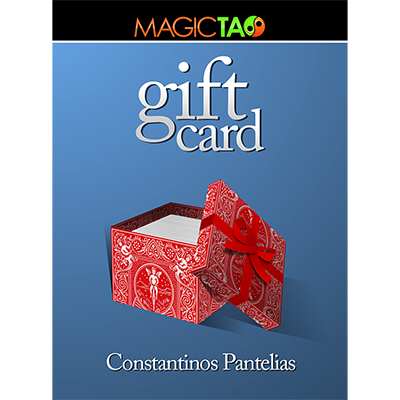 Gift Card Blue (Gimmick and Online Instructions) by Constantinos Pantelias - Trick