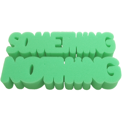 Hard Sponge - Something Or Nothing (Green) by Magic By Gosh
