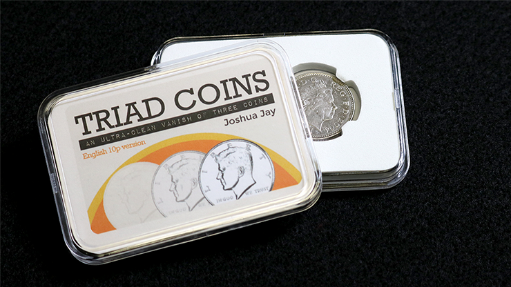 Triad Coins (UK Gimmick and Online Video Instructions) by Joshua Jay and Vanishing Inc. - Trick