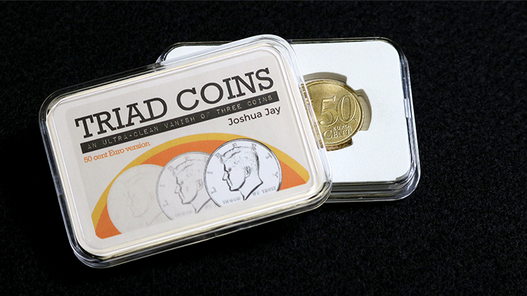 Triad Coins (Euro Gimmick and Online Video Instructions) by Joshua Jay and Vanishing Inc.