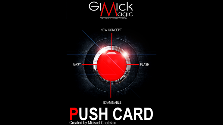 PUSH CARD (English) by Mickael Chatelain Zuschauerkarte springt auf Knopfdruck aus Deck