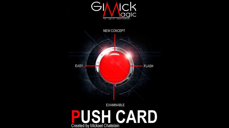 PUSH CARD (Spanish) by Mickael Chatelain Zuschauerkarte springt auf Knopfdruck aus Deck