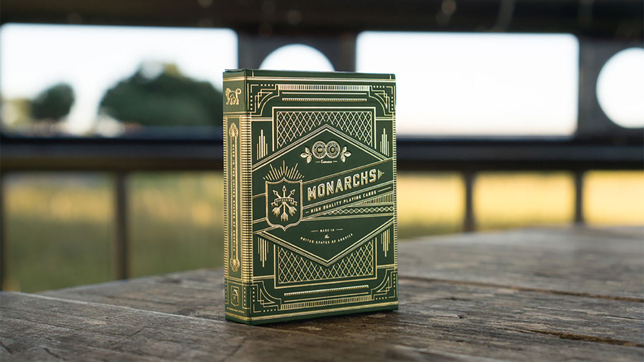 Monarchs Playing Cards - Cartas Bicycle (Verde) - Theory 11