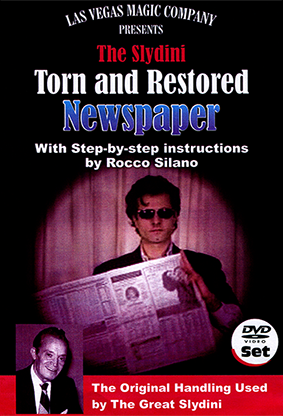 Slydini Newspaper Tear (With DVD) by Rocco Silano - Trick