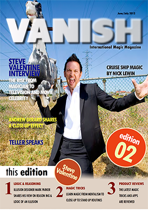 VANISH Magazine June|July 2012 - Steve Valentine eBook Video DOWNLOAD