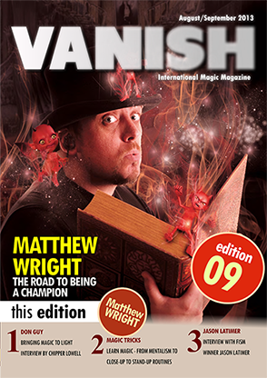 VANISH Magazine August|September 2013 - Matthew Wright eBook DOWNLOAD