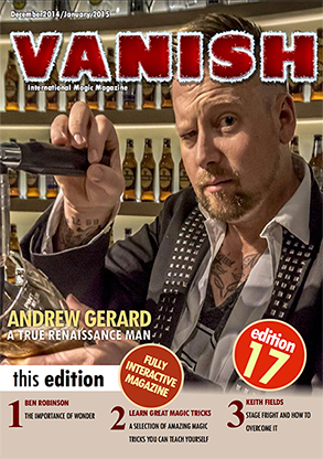 VANISH Magazine December 2014/January 2015 - Andrew Gerard - eBook
