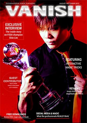VANISH Magazine August|September 2015 - Shin Lim eBook DOWNLOAD