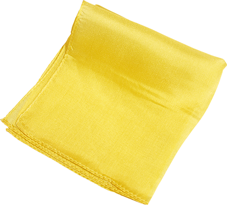 "Silk 6"" (Yellow) Magic By Gosh... MagicWorld Magic Shop"