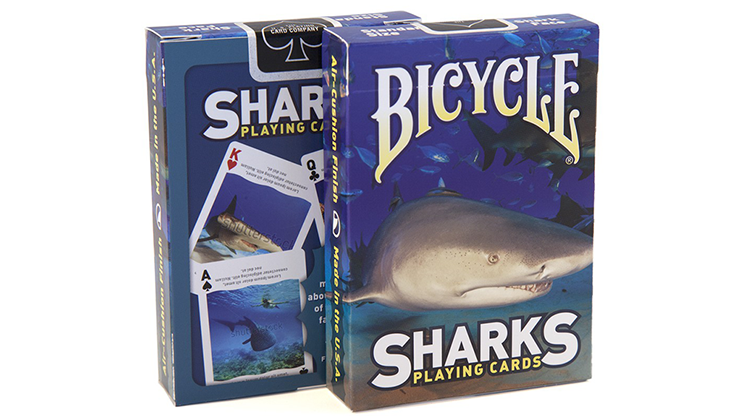 Bicycle Sharks Playing Cards by US Playing Card Poker Kartenspiel Spielkarten