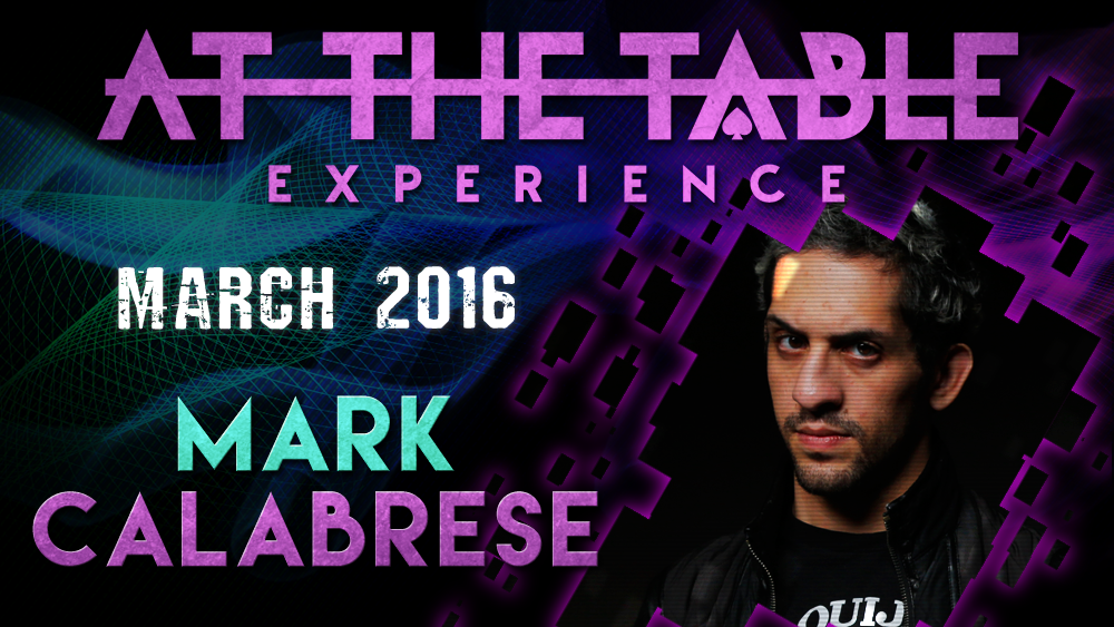 At the Table Live Lecture - Mark Calabrese March 16th