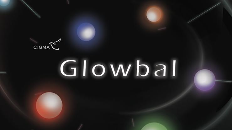 Glowbal 1.75 inch (White / 2 hemisphere) single ball by Hsaio Magic - Trick