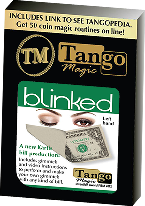 Tango Blinked Left Handed (Gimmick and Online Instructions) V0015 by Tango Magic - Trick
