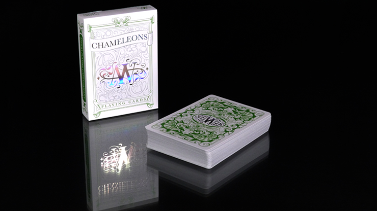 Chameleon Playing Cards  signed - Asi Wind (Verde) - Expert Playing Cards