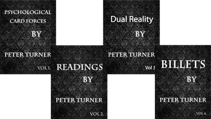 4 Volume Set of Reading Billets Dual Reality and Psychological Playing Card Forces by Peter Turner eBook DOWNLOAD