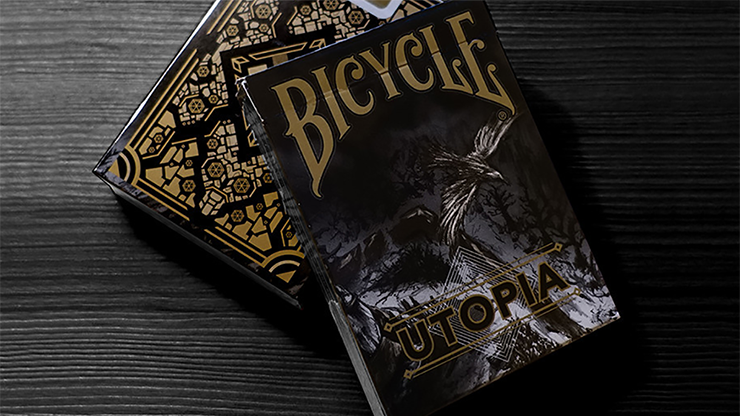 Bicycle Utopia Black Gold Playing Cards by Card Experiment
