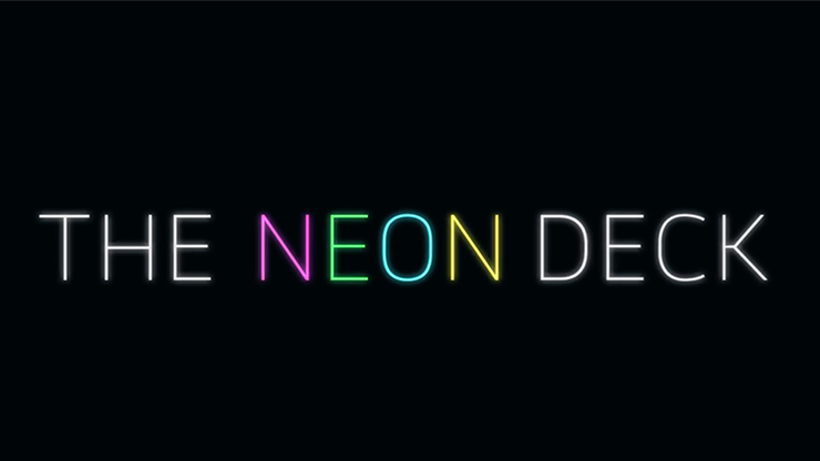 Neon Deck (Red) by SansMinds - Leuchtendes Kartenspiel Poker Spielkarten
