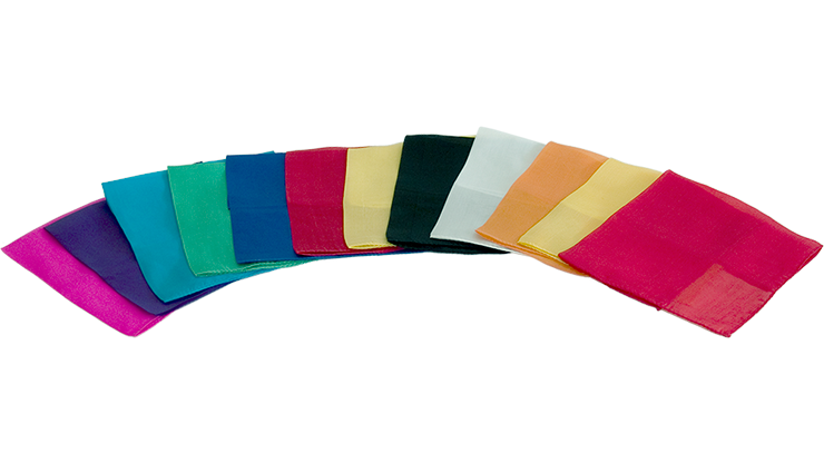 Silks 12 inch 12 Pack (Assorted) Magic by Gosh - Trick