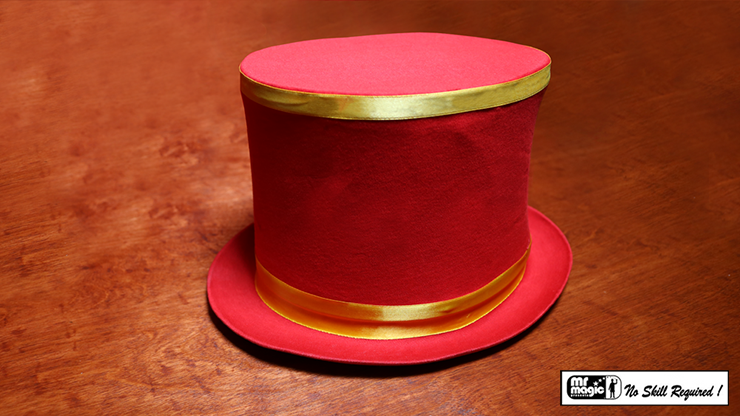 Collapsible Top Hat (Red) - Mr. Magic