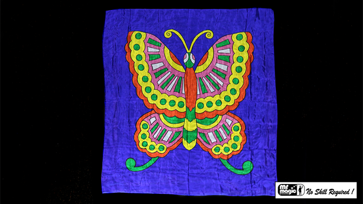Production Silk Butterfly 36 inch  x 36 inch by Mr. Magic - Trick