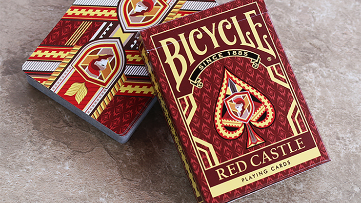 Cartas Bicycle Red Castle Playing Cards - Cartas Bicycle de Coleccion