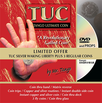 Limited Special Silver TUC Walking Liberty (LOF02) plus 3 Matching Coins by Tango - Trick