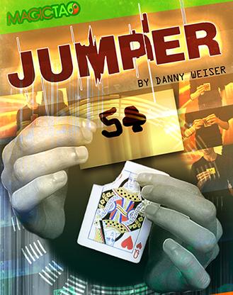 Jumper Blue (Gimmick and Online Instructions) by Danny Weiser - Voraussage verwandelt sich in Karte