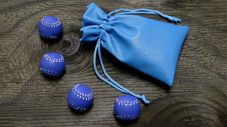 Set of 4 Leather Balls for Cups & Balls (Azul) - Leo Smetsers