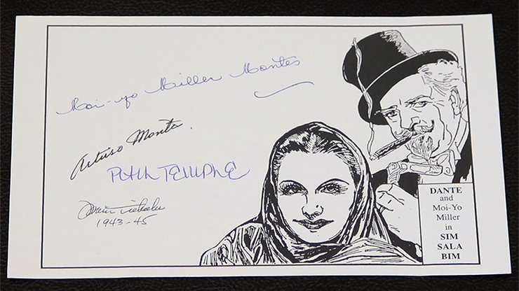 Dante autographed book plate (Rare) - Trick