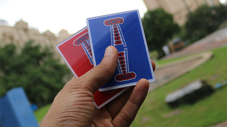 Jerry Nugget Cardistry Trainers 3 PACK (Red & Blue Double Backer) - Magic Encarta