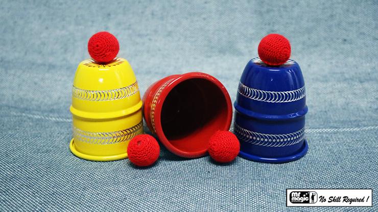 Cups & Balls 3 Color (Diamond Cut) - Mr Magic