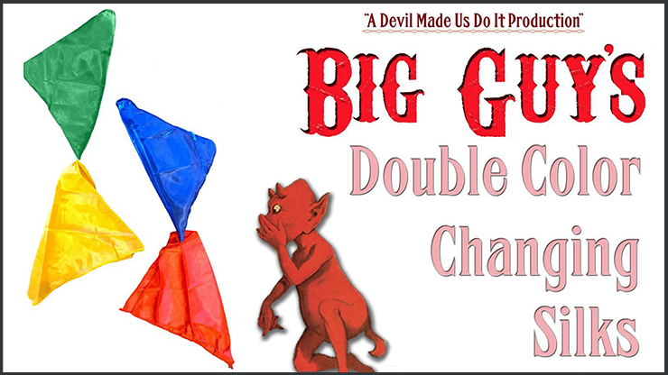 Double Color Changing Silks by Big Guys Magic - Trick