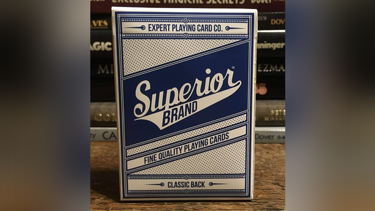 Superior (Blue) NEW Playing Cards by Expert Playing Card Co