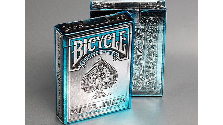 Cartas Bicycle Metal Rider Back Playing Cards (AZUL) - Cartas Bicycle de Coleccion