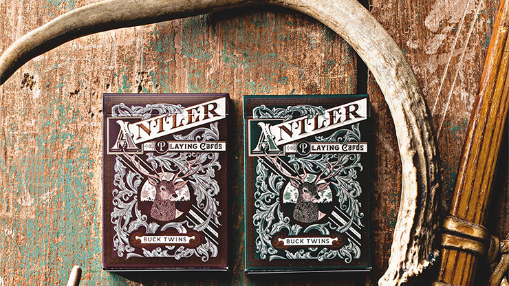 Antler Playing Cards (Verde) - Dan & Dave