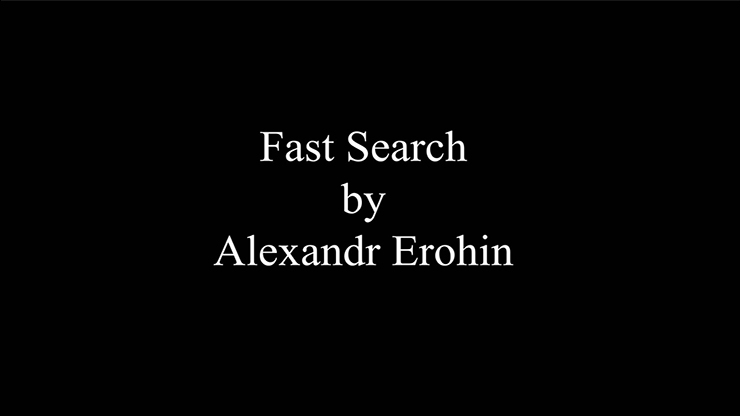 Fast Search by Alexandr Erohin Streaming Video