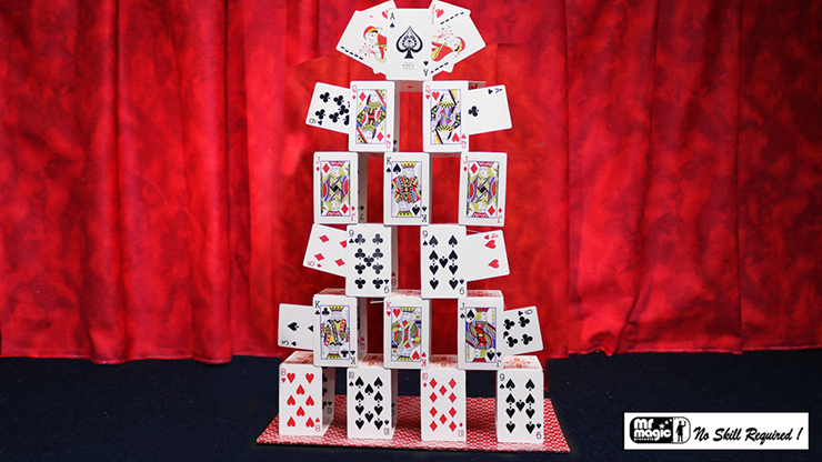 Card Castle with Six Card Repeat - Mr. Magic