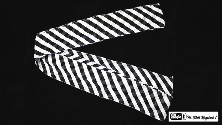 Production Streamer Zebra 6 inch  x 18 feet (Black and White) by Mr. Magic - Trick